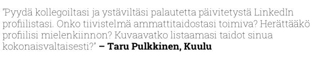Taru Pulkkinen